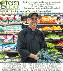 GreenLeaf Market Advertisement in Feast Magazine