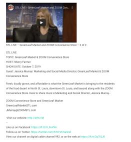 STL Live Interview about GreenLeaf Market