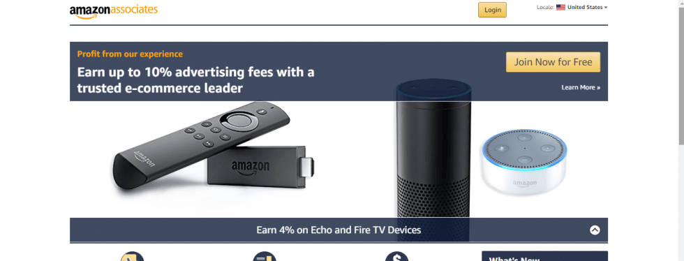 Amazon is a trusted affiliate program for beginners