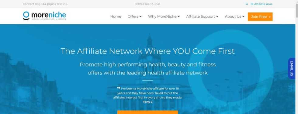 Moreniche is mainly a health network affiliate program