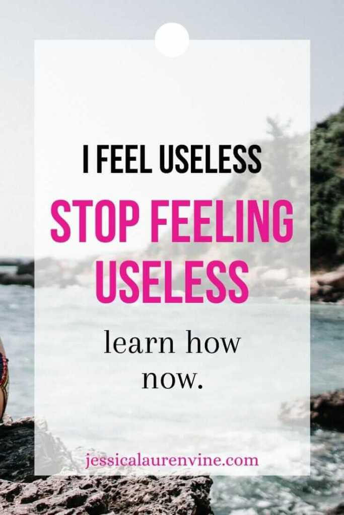 i feel useless pinterest image