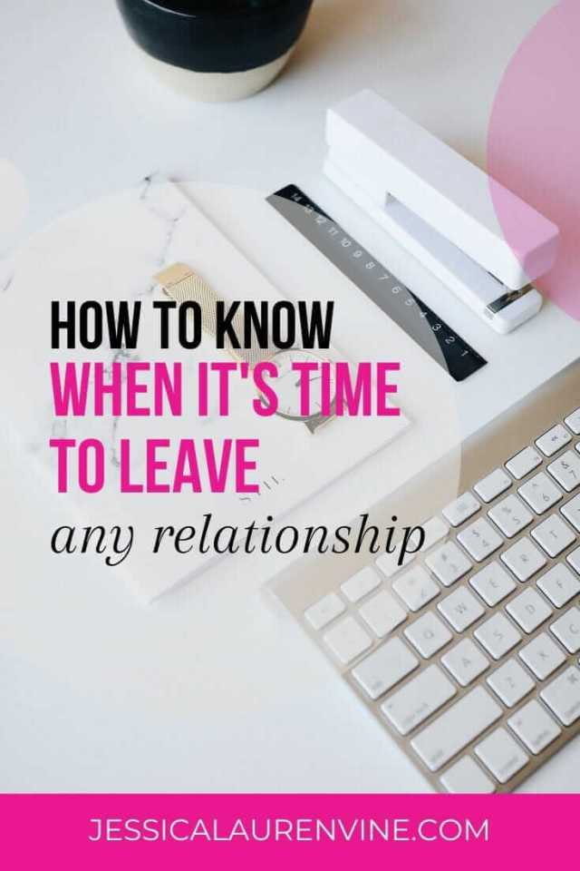 when to end a relationship pinterest image
