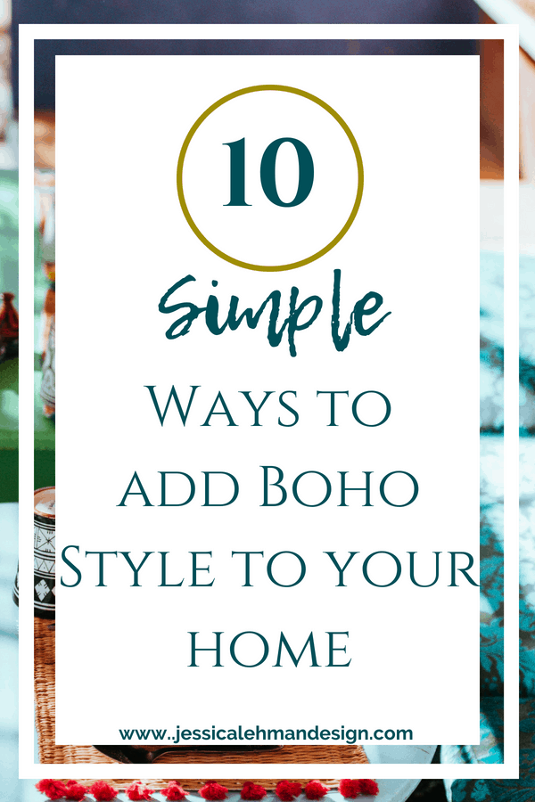 Add boho style to your home.