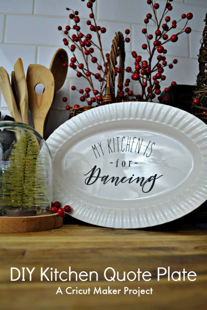 DIY Christmas Gift Personalized platter-RedCottageChronicles