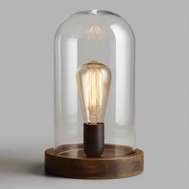 Edison Glass Cloche Table Lamp-last minute gifts