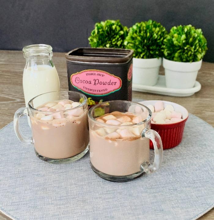 easy 3 ingredient microwave hot chocolate
