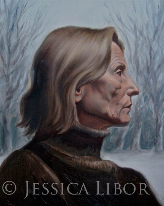 "Anna of the Woods, oil on linen board, 10""x12"", Jessica Libor 2012"