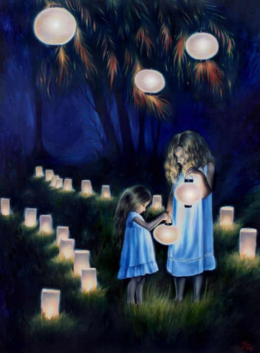 "Paper Lanterns, oil on canvas, 2010, 30""x40"" SOLD"