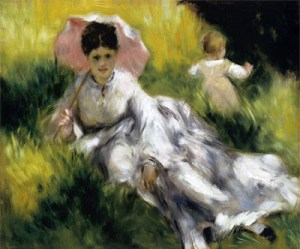 Renoir, woman with a parasol