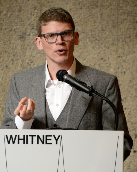 Anthony Elms speaking at the Press Preview for the Whitney Bienniale.  Photos courtesy of Zimbio.com