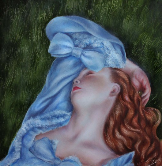 "Swoon, oil on panel, 8""x8"", Jessica Libor 2014"