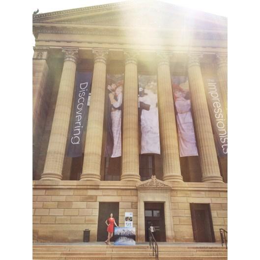 "Jessica Libor at the Philadelphia Museum of Art with ""Philadelphia Dusk"""