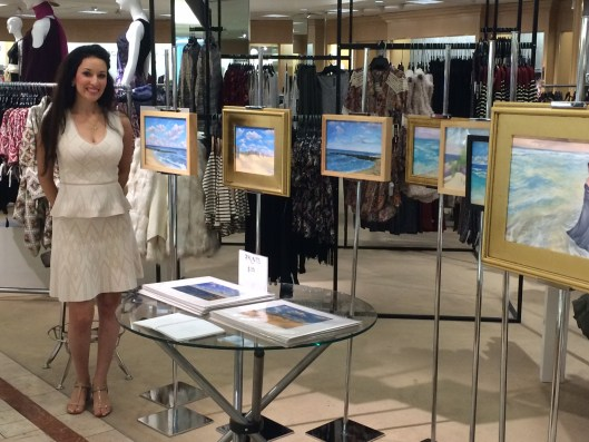 "Jessica Libor at the pop-up show ""Oceanic"" for Lord & Taylor"