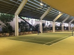 Lots of time spent on these badminton courts!