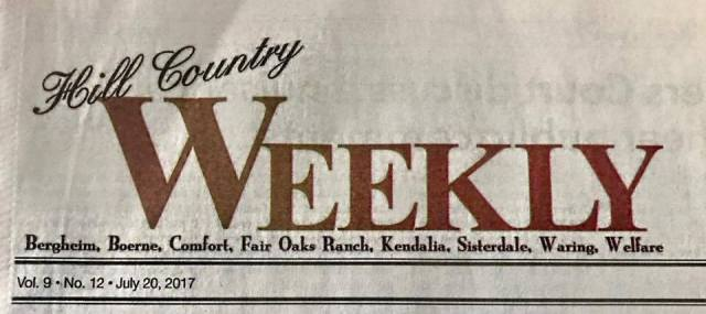 I've been published: Hill Country Weekly