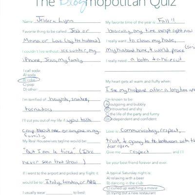The Blogmopolitan Quiz!