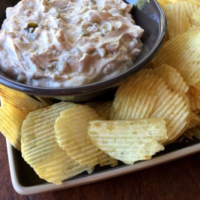 Green Chile Onion Dip