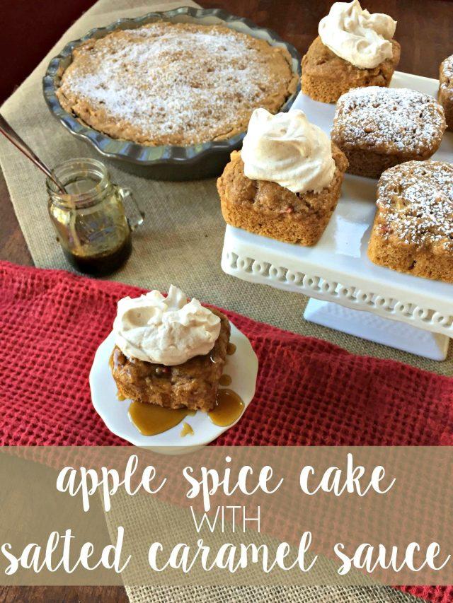 Apple Spice Cake with an Easy Caramel Sauce