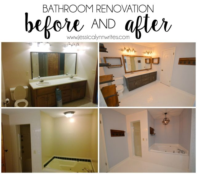 This bathroom renovation takes a drab room to a rustic-modern haven, and this post shares how we did it without breaking the bank.