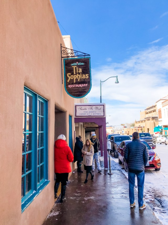 If you're visiting New Mexico, make sure you visit Tia Sophia's, a popular restaurant in Santa Fe with classic, down-home New Mexican cuisine.