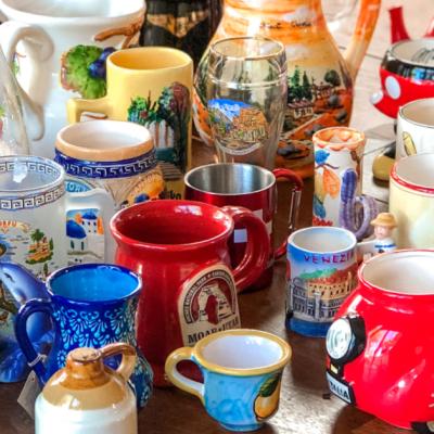 Our Tacky European Mug Collection