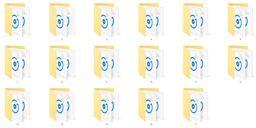 I create a voice snippets folder for each student, using their student number. I also do this for their sound and music clips.