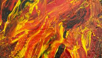 Aflame - Abstract painting
