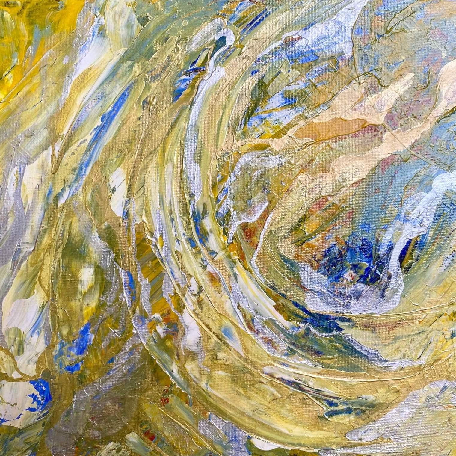 Golden Planet - Abstract Painting