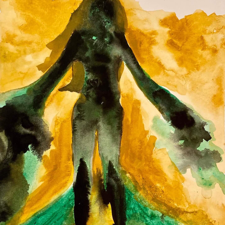 Shadow Self - Watercolor Illustration