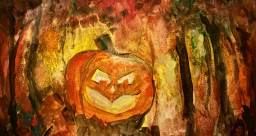 The Jack O'Lantern - The Forest imagery.