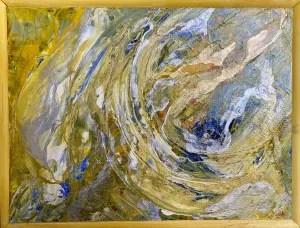 Golden Planet Framed
