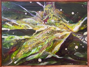 Original Autumn Painting - mounted on brown stretcher frames