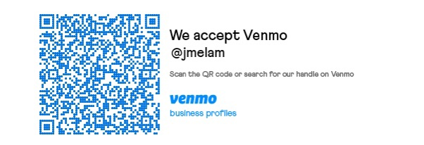 @jmelam Venmo