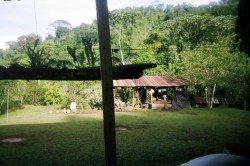 View of the animal house in one of the homestays in Costa Rica on our Outward Bound trip through the rainforest in 2007.