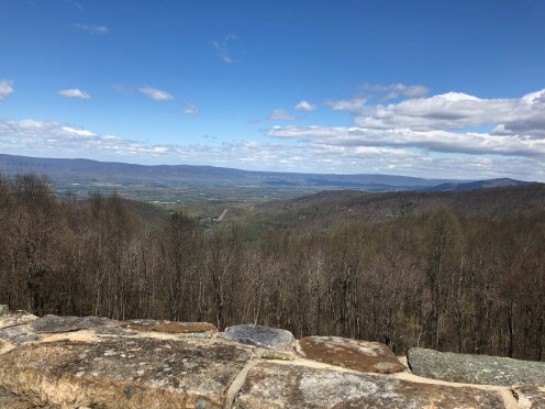 view of shenandoah valley and blue ridge mountains from skyline drive