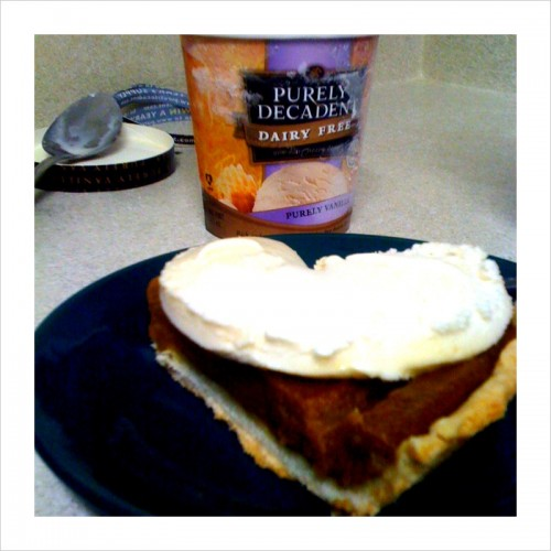 oh hell yes vegan ice cream pumpkin pie