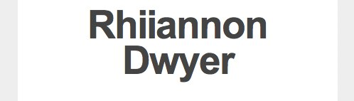 Rhiiannon Dwyer