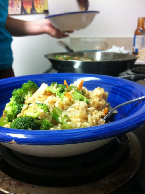 so grateful for stir fry made by my wife!