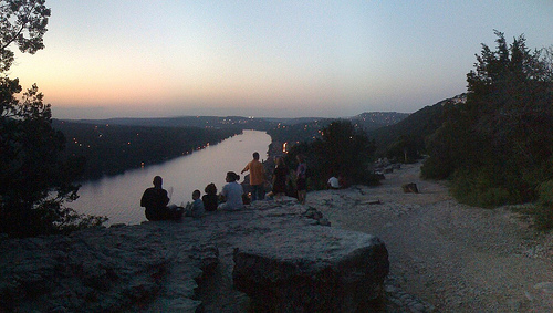 The view from Mt Bonnell