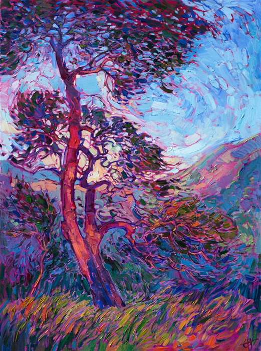 Erin Hanson Wooded Light Painting