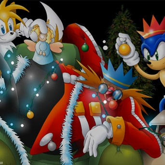 A cute Sonic picture for Christmas.