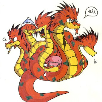 A hydra. Really old, but I still kinda like this.