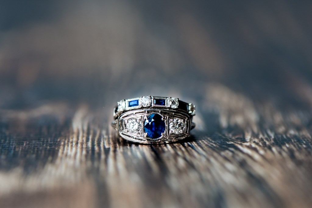 Jessica Patricia Photography Sapphire & Diamond Wedding Band