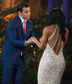 """BACHELORETTE 13 - """"Episode 1301"""" - Accomplished Texas attorney Rachel Lindsay takes a recess from the courtroom to start her search for happily ever after in the 13th edition of ABC's hit series, """"The Bachelorette,"""" premiering at a special time, MONDAY, MAY 22 (9:01-11:00 p.m. EDT), on The ABC Television Network. (Paul Hebert/ABC via Getty Images) GRANT, RACHEL LINDSAY"""