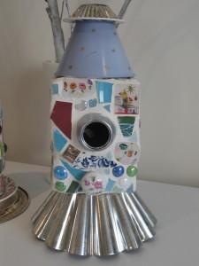 mosaic, shrinky dink, kid art, school auction