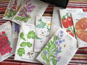 pretty seed packets by Botanical Interests