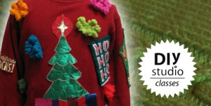 DIY Studio, reuse sweater, ugly sweater