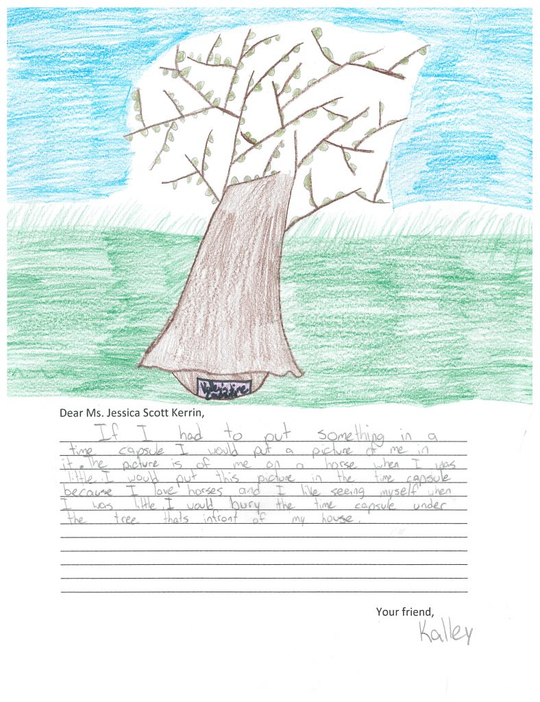 Child's drawing of a tree