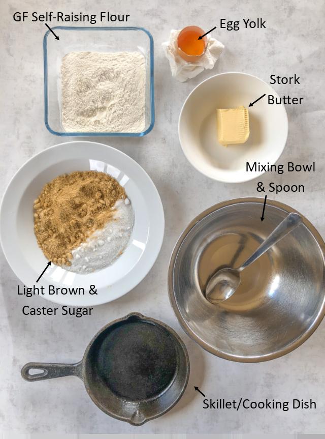 gluten free skillet cookie ingredients