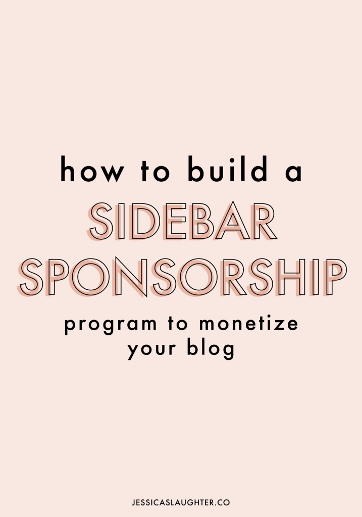 How To Build A Sidebar Sponsorship Program